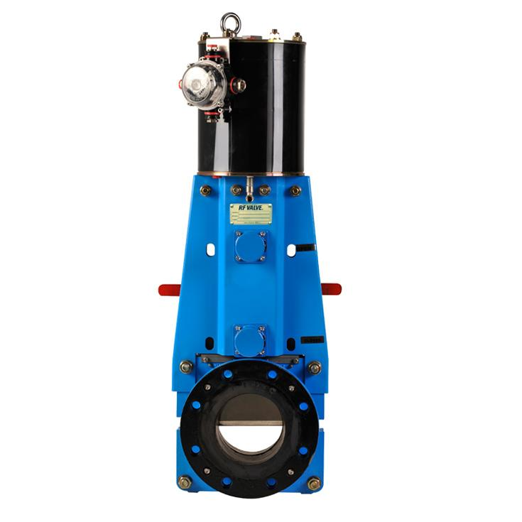 Rf Skg Flanged Knife Gate Valves High Performance Rfvalves